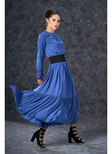 Eda Atalay Bohem Elbise İndigo